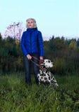 Girl and Dalmatian Stock Image