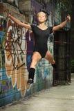 Girl dance Stock Images