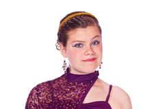 Girl in dance Costumes Royalty Free Stock Photography