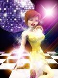 Girl on dance floor Stock Photography