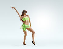 Girl dance point Royalty Free Stock Image