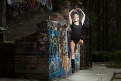girl dance on street stock photography