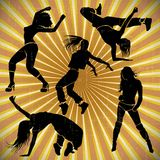 Girl dancer athletic club clubbers clubbing Stock Photography