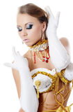 The girl-dancer in a costume of the empress Royalty Free Stock Photos