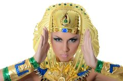 The girl-dancer in a costume of the Pharaoh Royalty Free Stock Photos