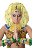 The girl-dancer in a costume of the Pharaoh Stock Photo