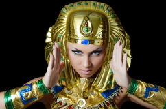 The girl-dancer in a costume of the Pharaoh Stock Images
