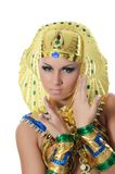The girl-dancer in a costume of the Pharaoh Royalty Free Stock Images