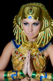 The girl-dancer in a costume of the Pharaoh Stock Photos