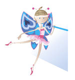 Girl - a dancer dressed as a butterfly Stock Image