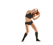 Girl dancer expressive Royalty Free Stock Photo