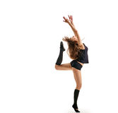 Girl dancer finish point Stock Photos