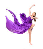 Girl dancer in flying dress Royalty Free Stock Image