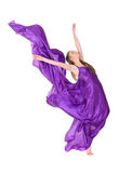 Girl dancer in flying dress Royalty Free Stock Photography