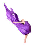 Girl dancer in flying dress Royalty Free Stock Photo
