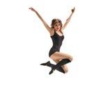 Girl dancer jump Royalty Free Stock Photos