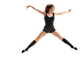 Girl dancer jumping Royalty Free Stock Photos