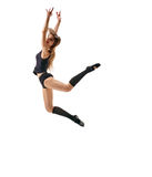 Girl dancer levitation Royalty Free Stock Image