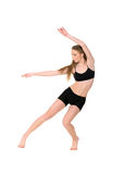 Girl dancer in movement Royalty Free Stock Photography
