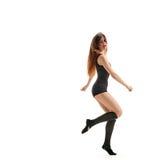 Girl dancer. starting point Royalty Free Stock Photos