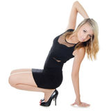 The girl the dancer on white background Stock Photography