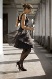 Girl dances Royalty Free Stock Image