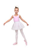 Girl dances ballet Stock Image