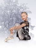 Girl dances ballet Royalty Free Stock Photography