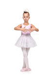 Girl dances ballet Stock Photography