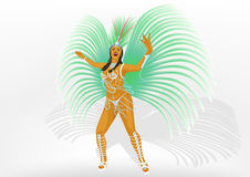 Girl dances samba Stock Photos