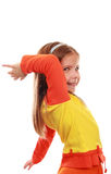 Girl dancing Stock Photography