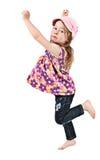 Girl dancing stock image