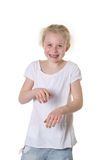 Girl dancing Stock Photo