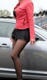 Girl dancing Stock Images