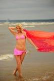 The girl dancing ashore Royalty Free Stock Photos