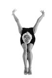 Girl dancing. Attractive girl dancing, shot in black and white version Royalty Free Stock Image