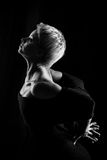 Girl dancing. Attractive girl dancing, shot in black and white version Stock Photos