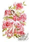Girl Dancing Ballet, Future Professional Ballerina Dancer Stock Photography
