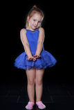 A girl dancing ballet Stock Images