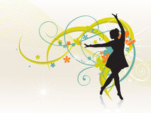 Girl dancing beautiful background Royalty Free Stock Image