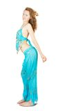 Girl dancing belly-dance Royalty Free Stock Photo