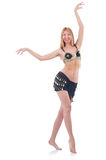 Girl dancing belly dance Stock Photography