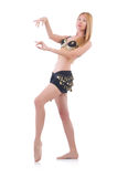 Girl dancing belly dance Royalty Free Stock Photos