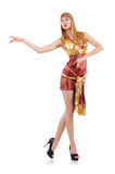 Girl dancing belly dance Stock Photo