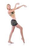 Girl dancing belly dance Royalty Free Stock Photos