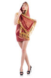 Girl dancing belly dance Royalty Free Stock Photo