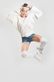 Girl dancing breakdance Royalty Free Stock Photography