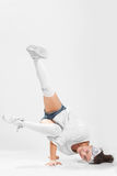Girl dancing breakdance Stock Photography