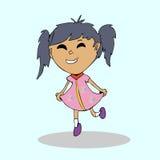 Girl dancing cartoon Stock Photography