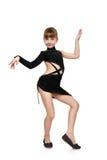 Girl dancing chachacha Stock Photos